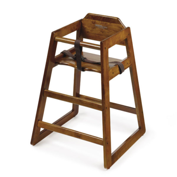 G.E.T. High Chair, Assembly Required Walnut Wood