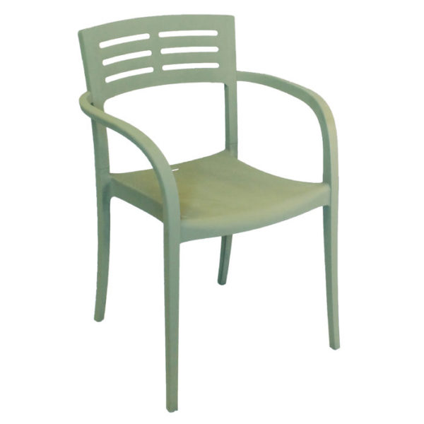Grosfillex Vogue Armchair Sage Green