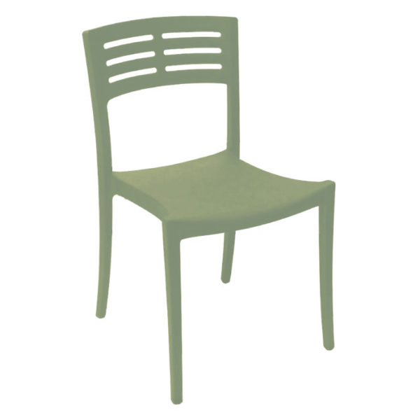 Grosfillex Vogue Sidechair_Sage_Green